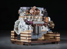 Eric van Hove Caterpillar engine sculpture
