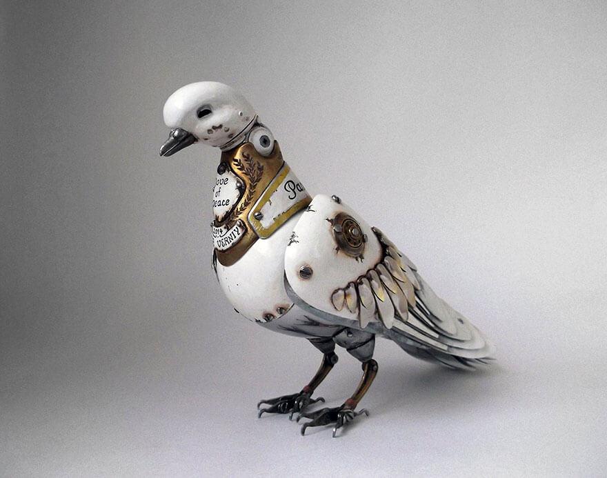 Igor Verniy Steampunk Sculpture Dove