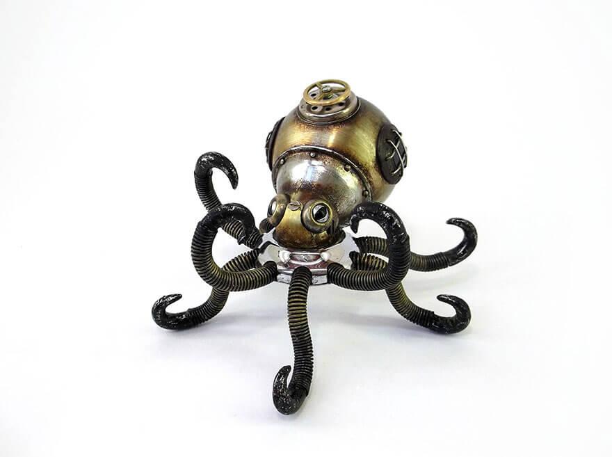 Igor Verniy Steampunk Sculpture Octopus