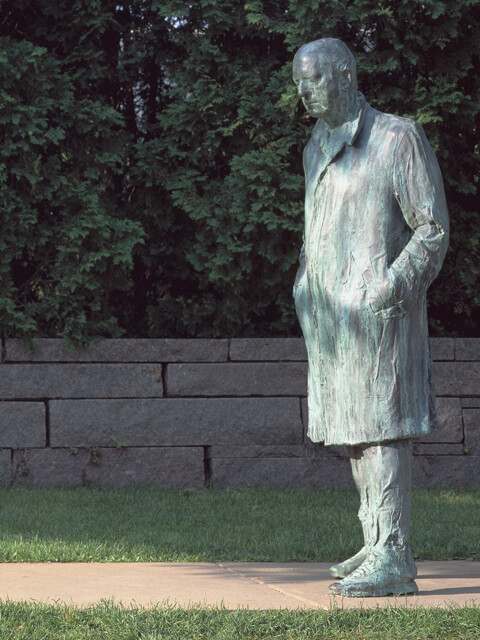 George Segal, Walking Man, 1988. Bronze