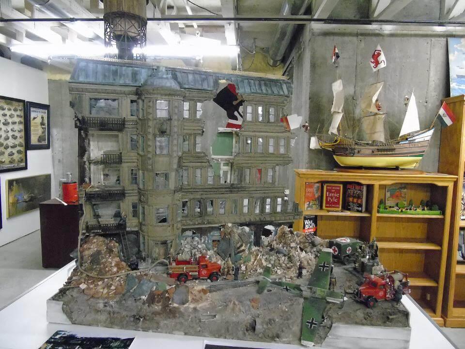 rescue scene wwii diorama