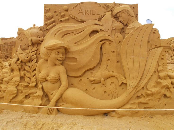 Ariel sand sculpture