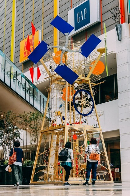Din Don kinetic sculpture in Kobe Japan