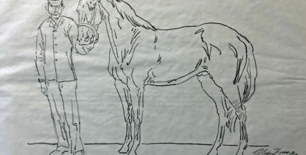 Dan Patch sculpture sketch by Alexa King