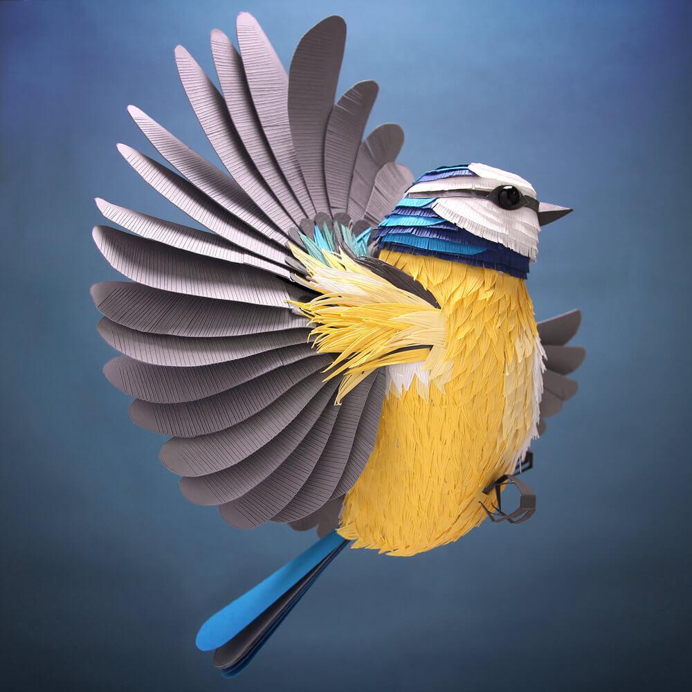 Lisa Lloyd Paper Sculpture flying bird