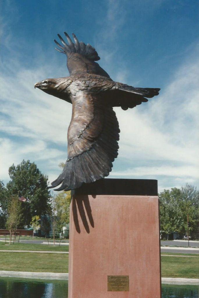American Gold bronze by sculptor Dan Ostermiller