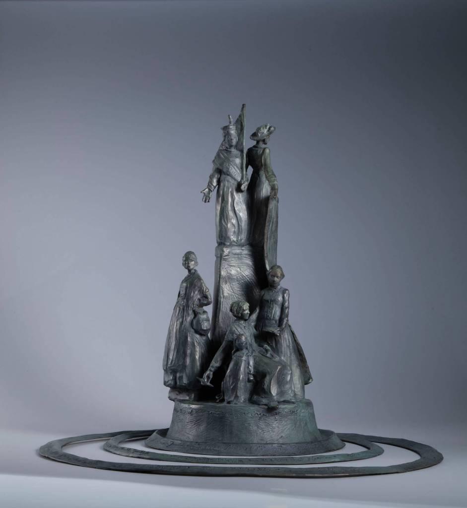 Sculptor Jane DeDecker suffragette monument sculpture ripples