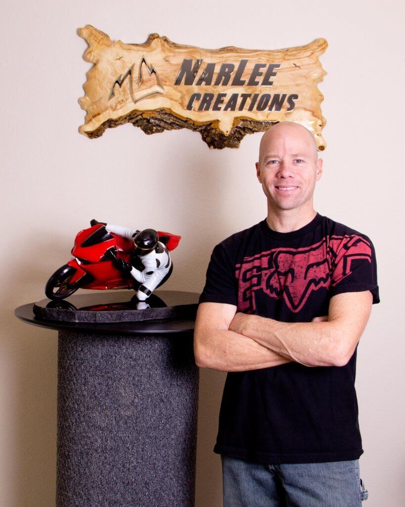 Sculptor Lee Maple with Living on the Edge