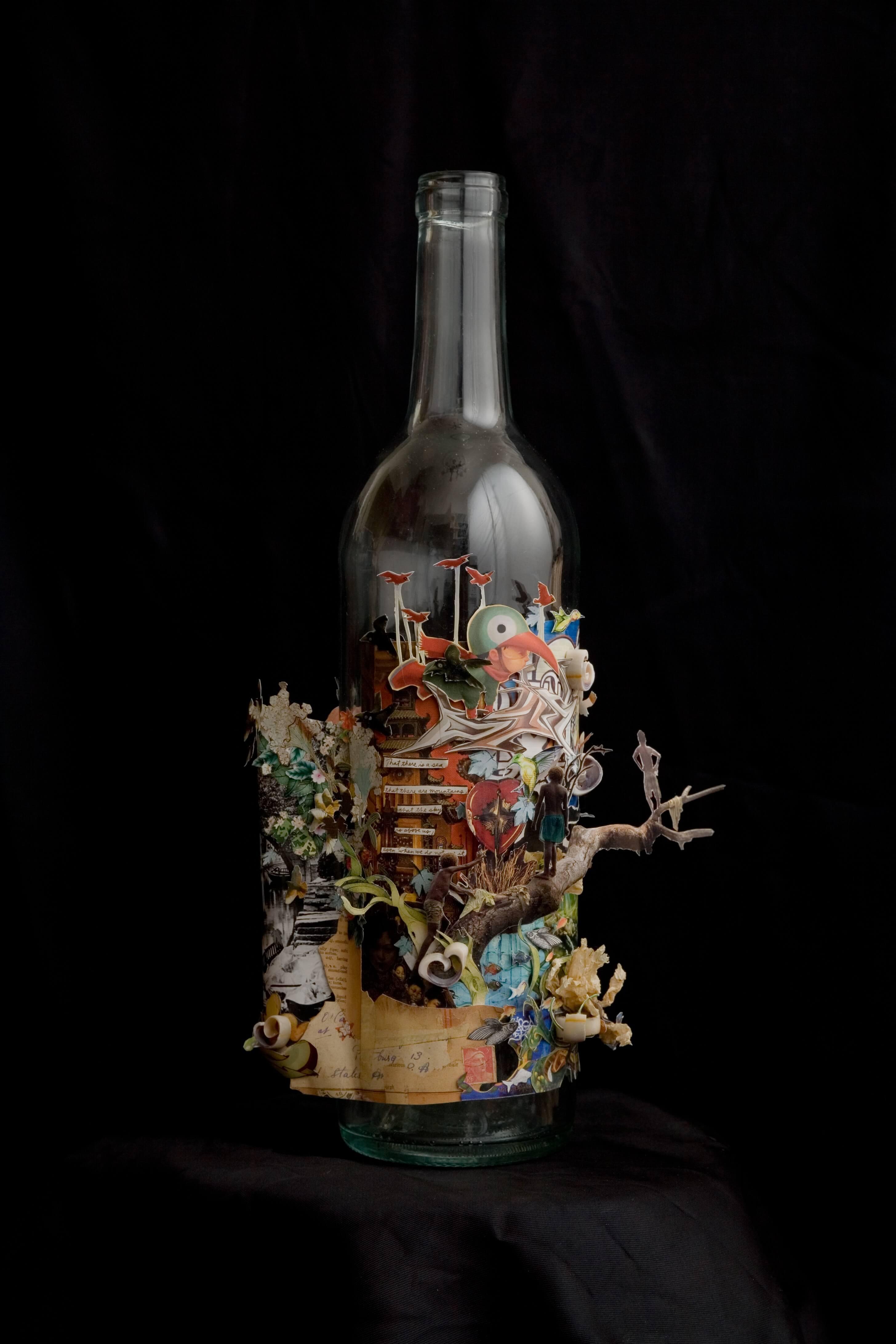 collage sculpture emerging artist Sloppy James