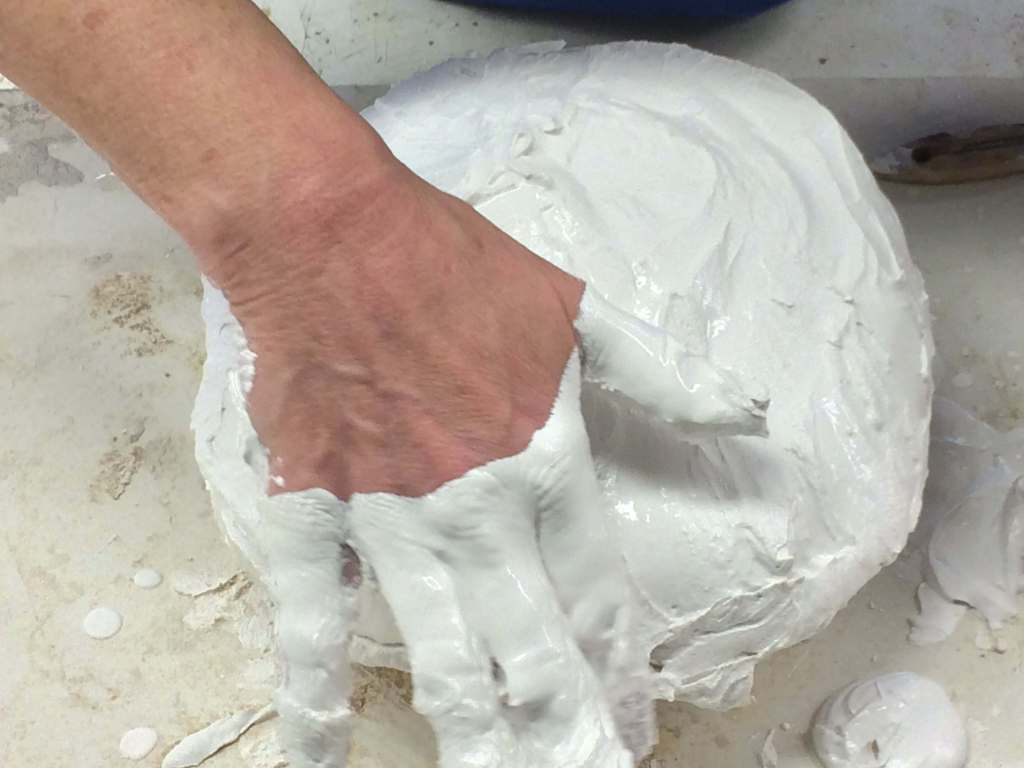 sculpture mold making apply plaster