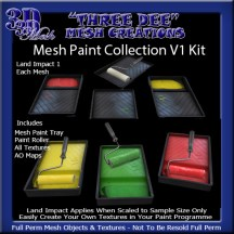 Mesh Paint Collection V1 Kit AD Pic
