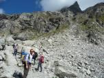 Cambio di ambiente..si passa al granito del monte Bianco, bacino del Triolet