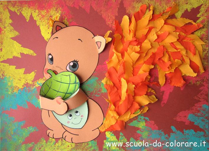 Animal Crossing Fall Wallpaper Lavoretto D Autunno Il Quadretto Con Lo Scoiattolo Le