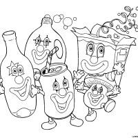Gli allegri rifiuti riciclabili