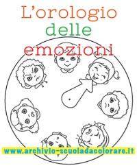 Lorologio delle emozioni da colorare | Le news di Scuola ...