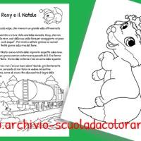 Storia di Natale per bambini da colorare: La volpe Roxy e il Natale