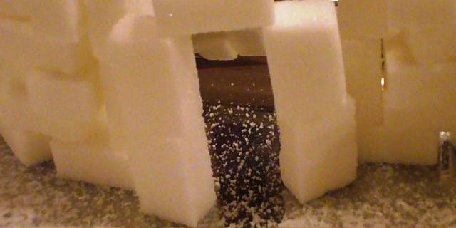 Centrotavola di zucchero per Natale
