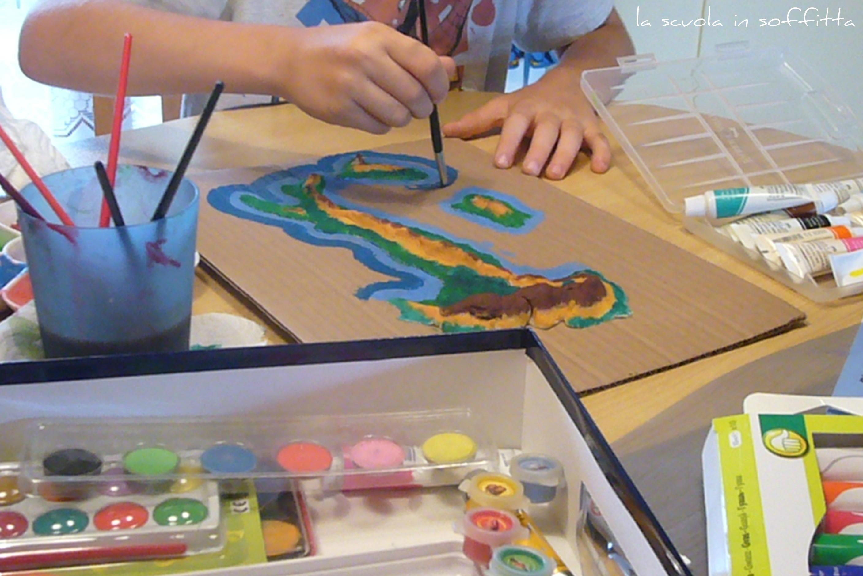 Cartina Italia Bambini.Realizzare Una Cartina D Italia Per I Bambini