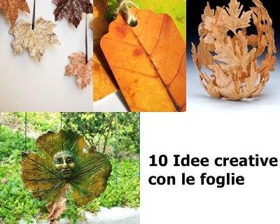 10 Attività creative con le foglie
