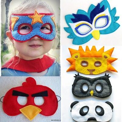 maschere di carnevale fai da te per bambini DIY