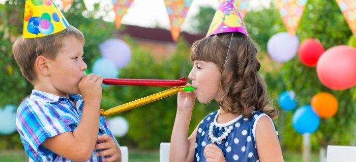Festa di compleanno al parco giochi