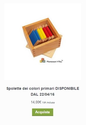 materiale montessori acquisto online