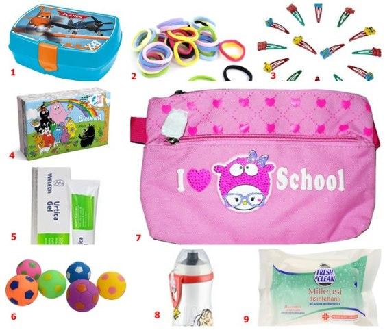 kit sopravvivenza primi giorni scuola