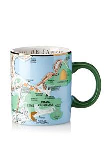 tazza mappa geografica