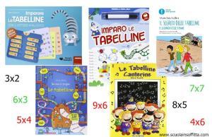 5 Libri di matematica per bambini sulle tabelline