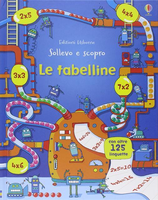 libro per imparare le tabelline usborne