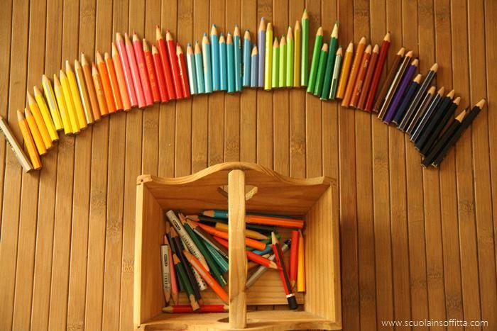 esercizi montessori colori