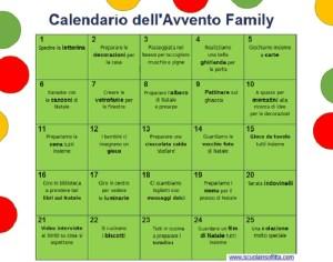 calendario dell'avvento family da stampare