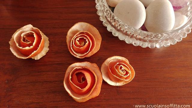 decorazioni con bucce di mandarini