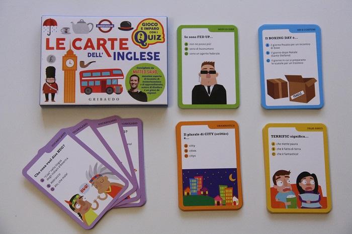le carte dell'inglese gioco per bambini