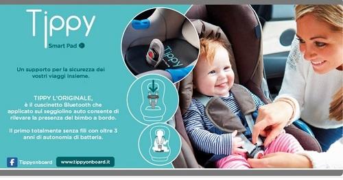cuscinetto per non dimenticare bambini in auto