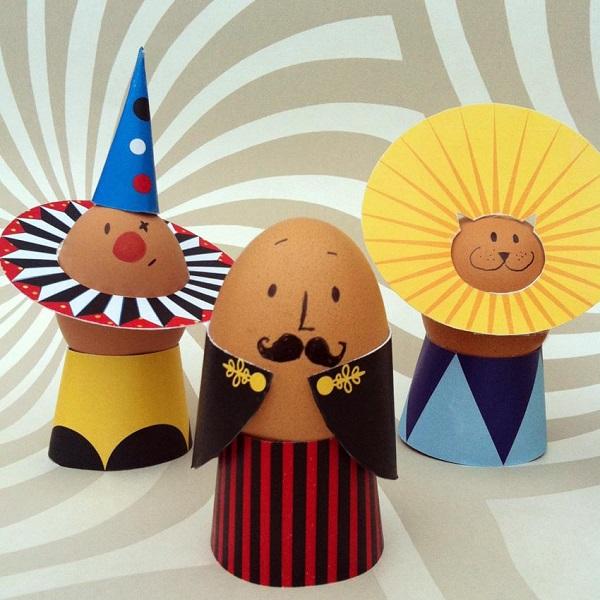 Decorazioni originali per le uova sode