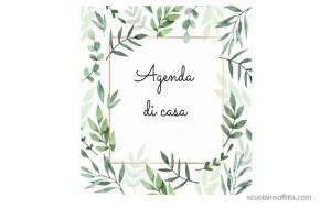 Agenda di casa planner annuale da stampare