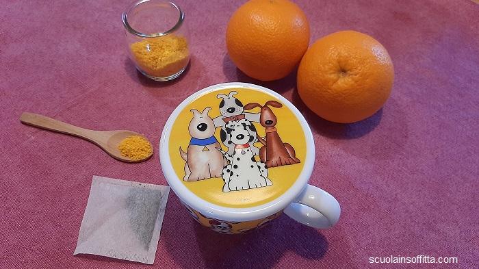 Tisana con bucce di arancia