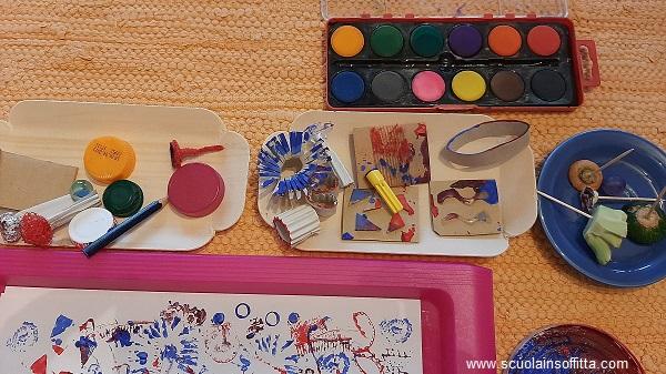 Laboratorio Munari con colori e timbri