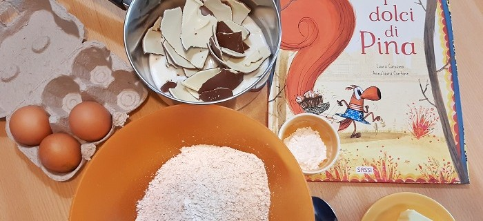 Libro per bambini sulla cucina i dolci di pina