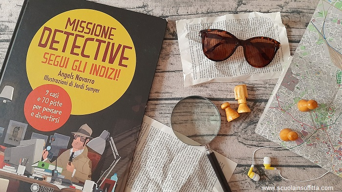 Missione detective libro con giochi di ragionamento
