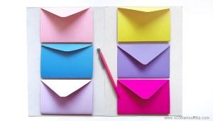 Lapbook fai da te con le buste colorate