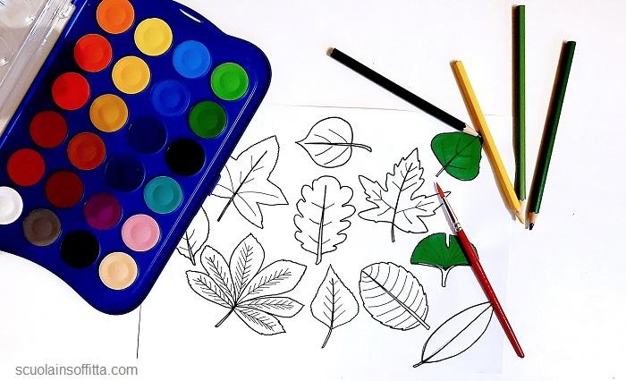 Attività per bambini con le foglie