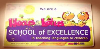 School of Excellence in teaching languages to children