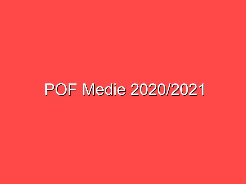 POF Medie 2020/2021