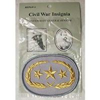 INSIGNIA CIVIL WAR CONFEDERATE GENERAL OFFICER PATCH