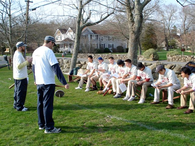 Vintage base ball talk at Tabor Academy, 4.21.2008. Image by Tom Jailett