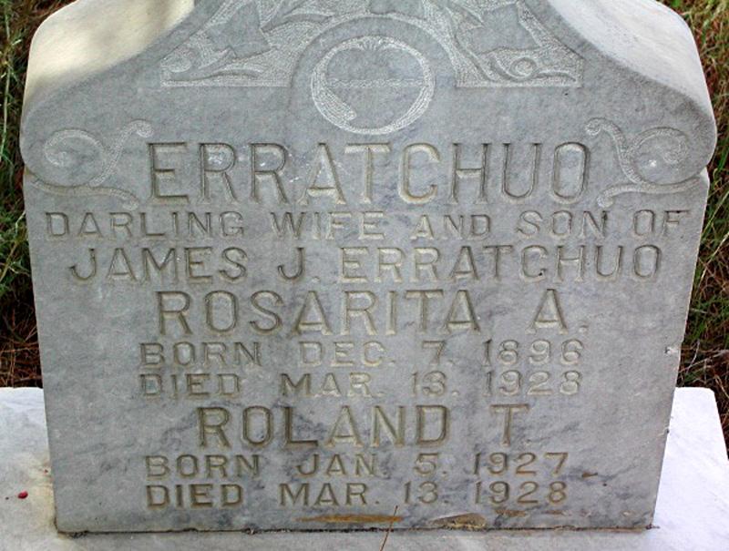 Rosarita & Roland Erratchuo, Dam Victims. RUIZ CEMETERY, SAN FRANCISQUITO CANYON. Photos of the St. Francis Dam disaster.