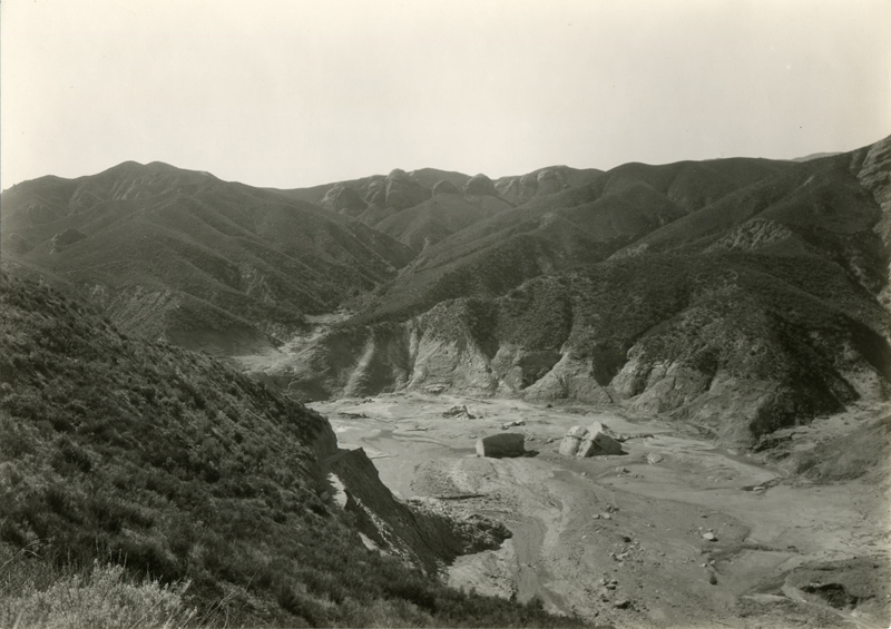 Large Chunks of St. Francis Dam Hurtled Down Canyon. EX-SAN FRANCISCO PUBLIC UTILITIES COMMISSION ARCHIVES. Photos of the St. Francis Dam disaster.