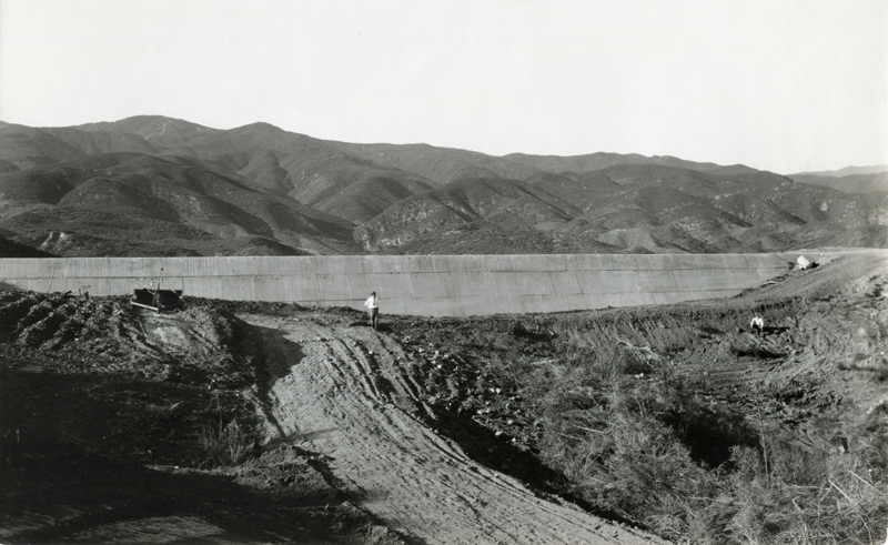 Auxiliary Spillway Sill After Failure. EX-SAN FRANCISCO PUBLIC UTILITIES COMMISSION ARCHIVES. Photos of the St. Francis Dam disaster.